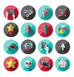 Universal flat icons for web vector