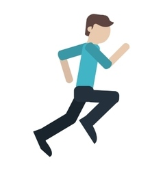 man running people person young vector image