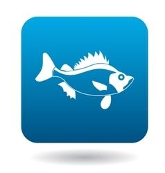 Ruff fish icon simple style vector