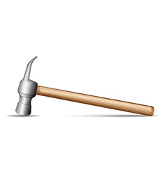 A wooden hammer vector image
