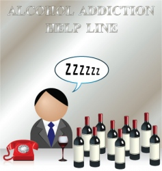 alcohol addiction vector image