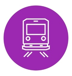 Back view of train line icon vector