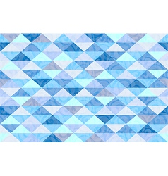 Blue mint marble triangle pattern background vector