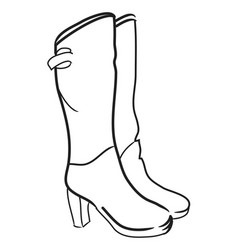 cartoon image of high boots vector image