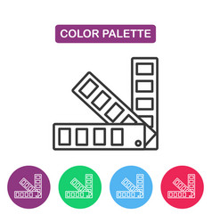 Color palette guide logotype design templates vector