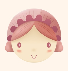 Doll cute head cartoon design vector
