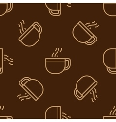 Glass coffee cup pattern vector image vector image