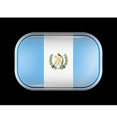 Guatemala rectangular shape with rounded corners vector
