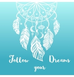 Hand drawn of dream catcher vector image