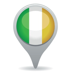 irish flag pointer vector image vector image