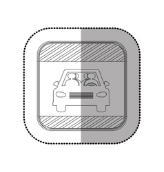 Isolated car vehicle vector