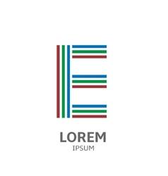 LOREM ipsum E vector image vector image