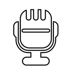 microphone sound isolated icon vector image