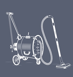 Old vacuum cleaner balloon vector