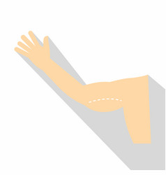 Plastic surgery of arm icon flat style vector