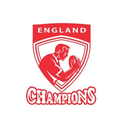 Rugby player champion england vector