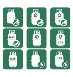 Set of tourism coocking equipment icons vector