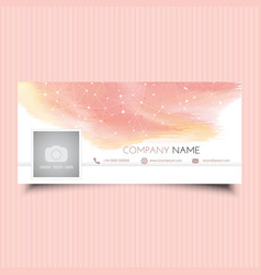 Social media cover design vector
