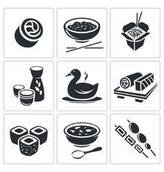 Sushi icons set vector
