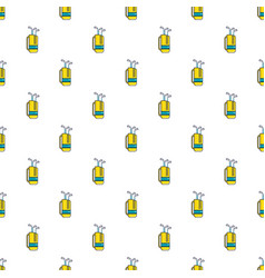 Yellow golf bag full of golf clubs pattern vector