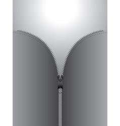 Zip design on gray background vector image vector image