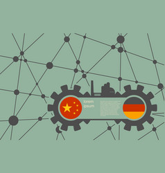 Economic relations between china and germany vector