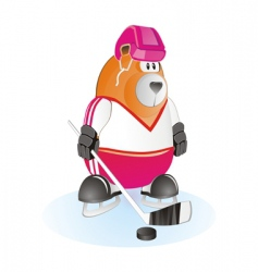 Bear hockey vector