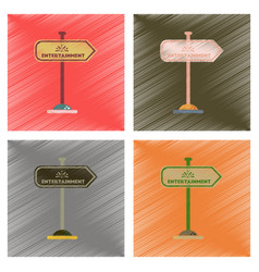 Assembly flat shading style icons sign vector