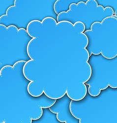 Paper blue paper cloud background vector