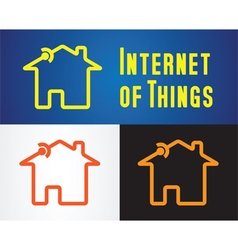 Internet of things icon vector