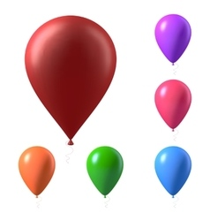 Set of photorealistic air balloons isolated vector