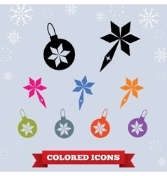 Ball icon holiday symbol new year christmas vector