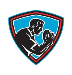 Retro rugby shield vector