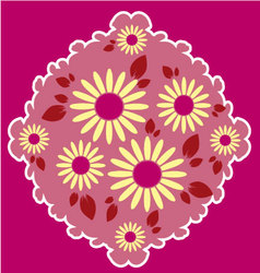 flowers in frame vector image