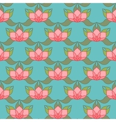 Stylized lotus background vector