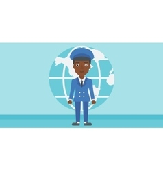 Businesswoman taking part in global business vector