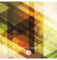Abstraction retro triangles background vector