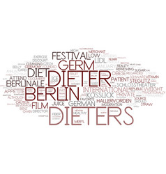 dieters word cloud concept vector image
