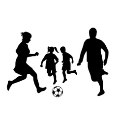 family soccer vector image vector image