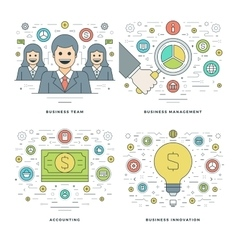 Flat line Management Finance Accounting vector image