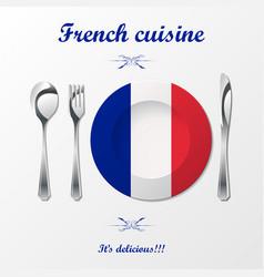 French cuisine cutlery vector