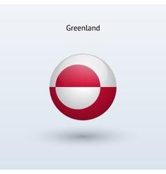 Greenland round flag vector