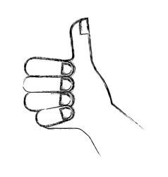 Hand human like icon vector