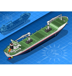 Isometric cargo ship vector image vector image