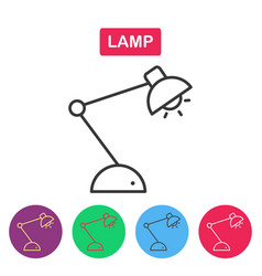lamp line icon on white background vector image