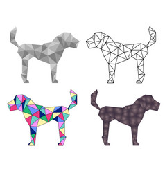 Low poly dog vector