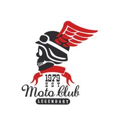 moto club logo est 1979 design element for motor vector image