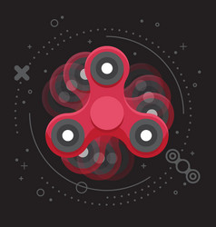 moving red hand spinner leaflet vector image
