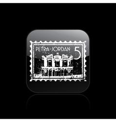 Petra icon vector