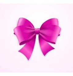 Pink satin bow vector
